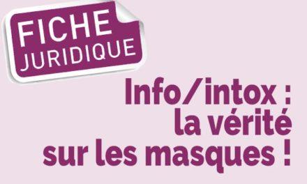 Info/intox: la vérité sur les masques!