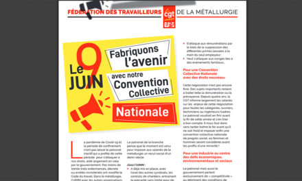 9 juin, mobilisés : FABRIQUONS L'AVENIR / CONVENTION COLLECTIVE NATIONALE