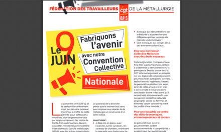 9 juin, mobilisés : FABRIQUONS L'AVENIR / CONVENTION COLLECTIVE NATIONALE