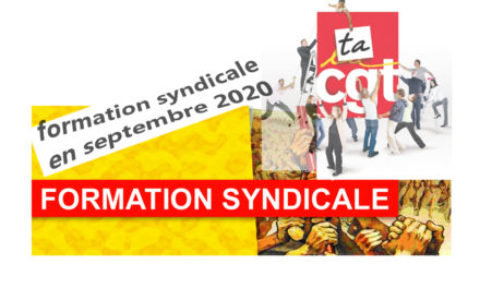 formation syndicale en septembre, places disponibles !