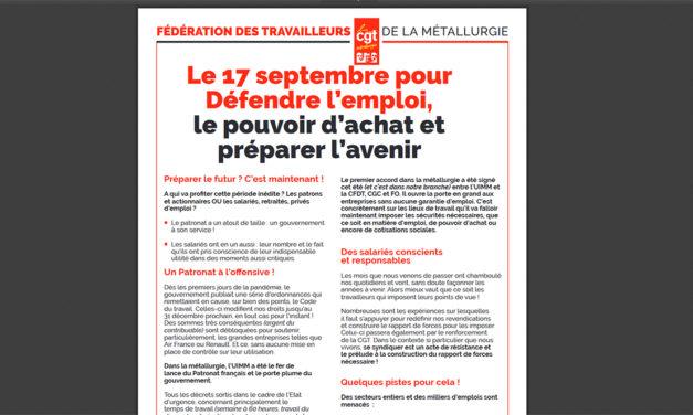 17 septembre : une rentrée de lutte et de mobilisation