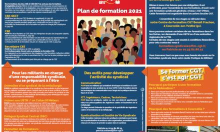 Plan de la formation syndicale 2021
