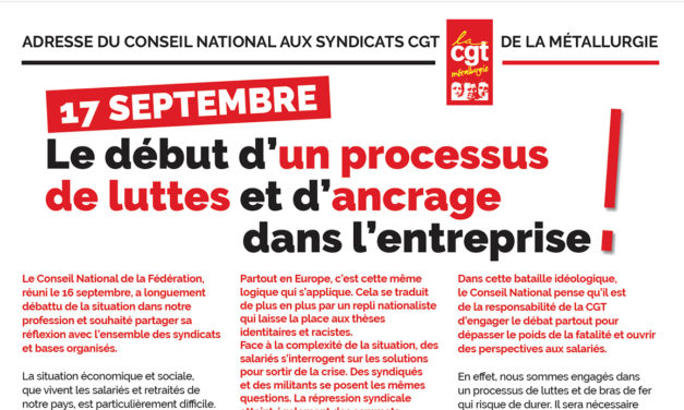 17 septembre : un processus de luttes et d'ancrage