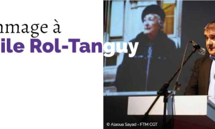 8 octobre 2020. Hommage à Cécile Rol-Tanguy