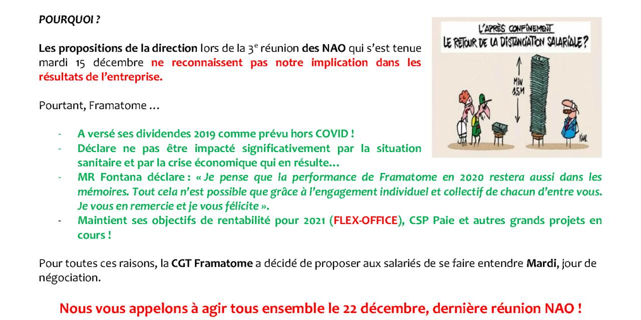 Mobilisation Framatome Saint-Marcel