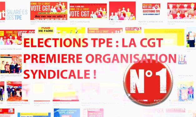 TPE : LA CGT PREMIÈRE ORGANISATION SYNDICALE !
