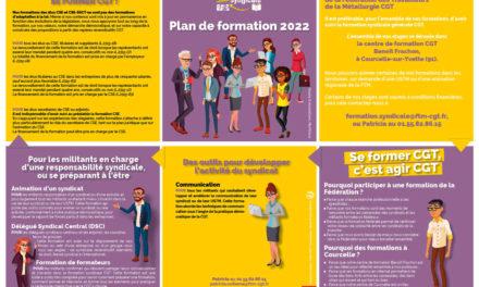 Plan de la formation syndicale 2022