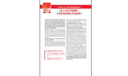LE 5 OCTOBRE : 5 RAISONS D'AGIR !