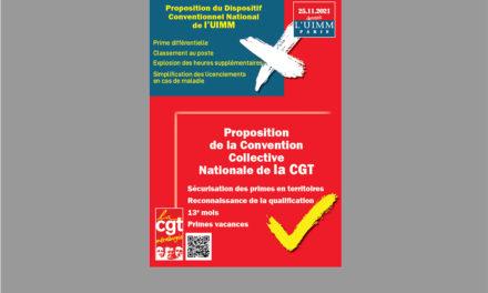 Affiche «Proposition de la Convention Collective Nationale de la CGT»